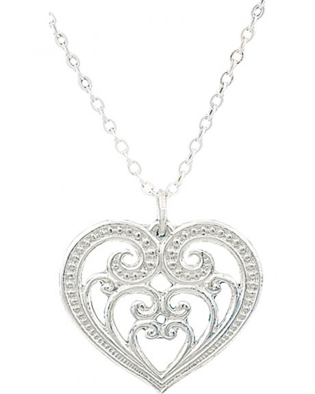 Montana Silversmiths Petite Blooming Heart Necklace