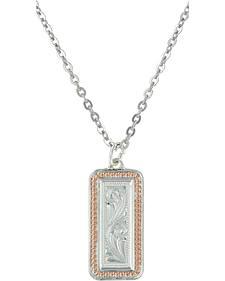 Montana Silversmiths Crosscut Floral Necklace