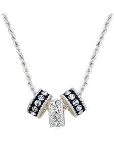 Montana Silversmiths Crystal Shine Three Ring Necklace