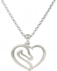 Montana Silversmiths Equestrian Heart Necklace