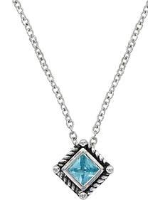Montana Silversmiths Roped Blue Starlight Necklace