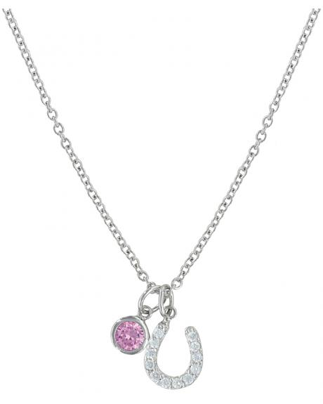 Montana Silversmiths Pink Luck By Star Light Necklace