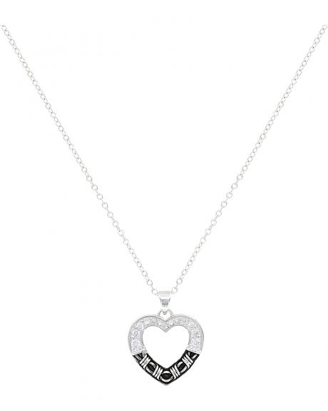 Montana Silversmiths Barbed Wire Heart Necklace