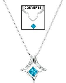 Montana Silversmiths Convertible Blue Diamond River Lights Necklace