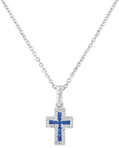 Montana Silversmiths Faith Found in the River Lights Cross Necklace