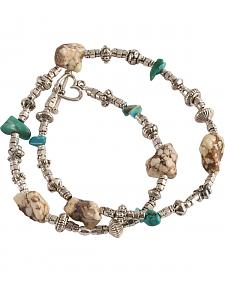 Julie Rose Genuine Turquoise Wrap Bracelet