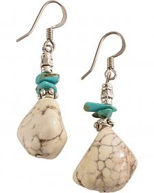 Julie Rose Genuine True Turquoise and Stone Earrings