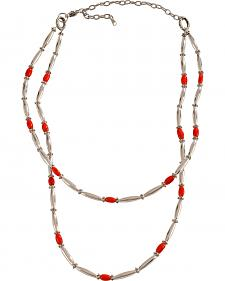 Julie Rose Double Strand Red Coral Necklace