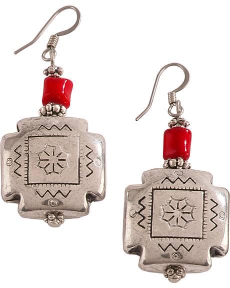 Julie Rose Red Coral Earrings
