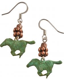 Julie Rose Running Horses Earrings