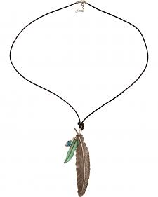 Julie Rose Silver Feather Necklace