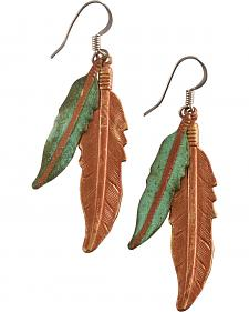 Julie Rose Double Feather Earrings
