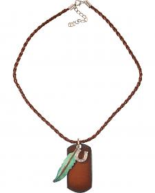 Julie Rose Rustic Dog Tag Necklace