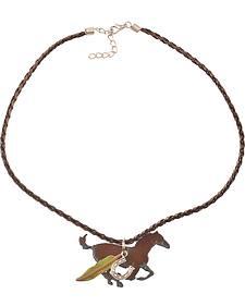 Julie Rose Running Horses Necklace