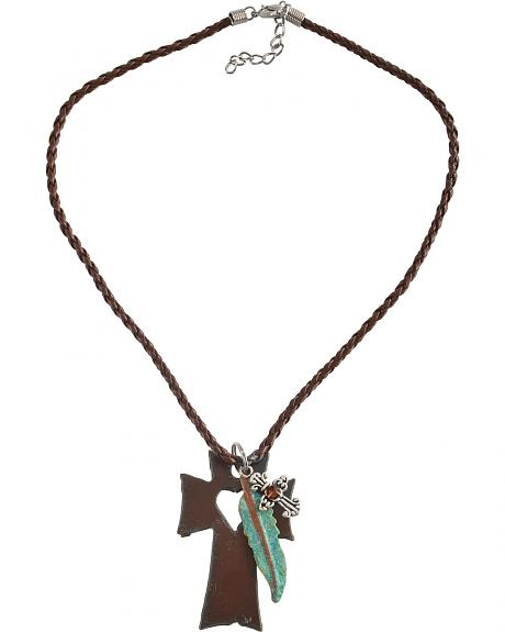 Julie Rose Rustic Cross Necklace
