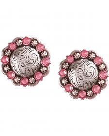 Julie Rose Filigree Concho Post Earrings