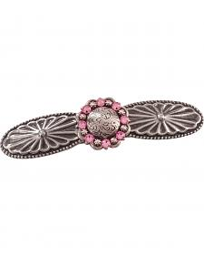 Julie Rose Western Style Pink Swarovski Crystal Concho Barrette