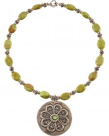 Julie Rose Green Apple Beaded Necklace