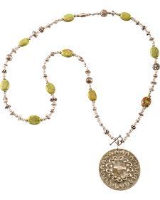 Julie Rose Green Howlite Necklace