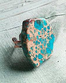 Jewelry Junkie Chunky Blue Regalite Ring