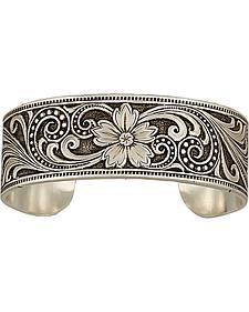 Montana Silversmiths Western Lace Whisper Garden Cuff Bracelet
