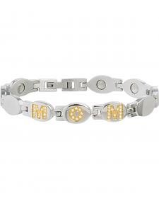 "Sabona Women's ""Mom"" Gold Gem Magnetic Bracelet"
