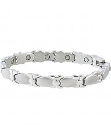 Sabona Women's Silver Bows Magnetic Bracelet