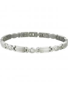 Sabona Women's Executive Silver Gem Magnetic Bracelet
