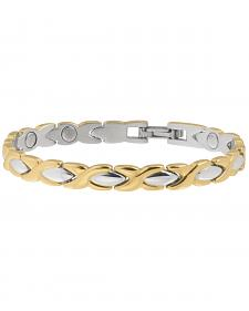 Sabona Women's Executive Dress Gold Duet Bracelet