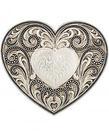 Montana Silversmiths Antiqued Heart Whispers Buckle
