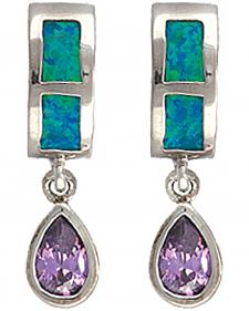 Montana Silversmiths River Lights Purple Tears Earrings