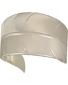 "Montana Silversmiths ""To Fly with Strength and Grace Feather"" Cuff Bracelet"