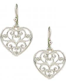 Montana Silversmiths Petite Heart's Flame Lattice Earrings