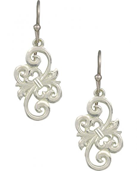 Montana Silversmiths Petite Barbed Wire Bow Earrings