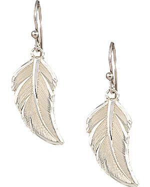 "Montana Silversmiths ""No Dream is Too Small"" Silver Feather Earrings"