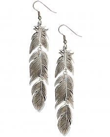 Montana Silversmiths Silver Plume Feather Dangle Earrings