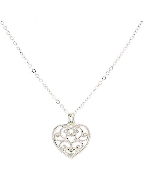 Montana Silversmiths Petite Heart's Flame Lattice Necklace