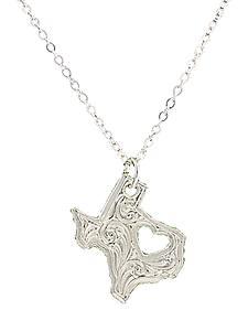 "Montana Silversmiths ""I Heart Texas"" Necklace"