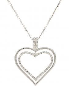 Montana Silversmiths Nested Heart Necklace