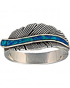 "Montana Silversmiths ""The Storyteller"" Feather Ring"