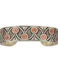 Montana Silversmiths Women's Silver and Copper Western Ice Cuff Bracelet