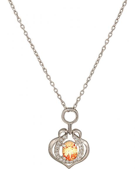 Montana Silversmiths River Lights Hoofprint in the Sunset Necklace