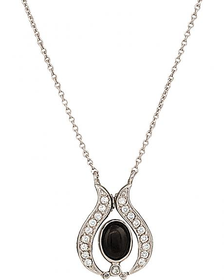 Montana Silversmiths Convertible Winged Onyx Necklace