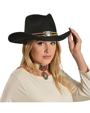 Juniper Wool Felt Cowgirl Hat