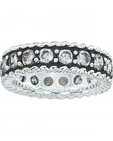 Montana Silversmiths Women's Crystal Shine Band Ring