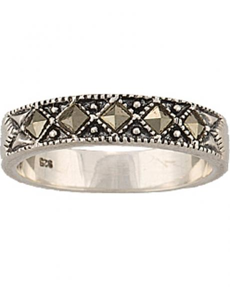 Montana Silversmiths Women's Sparks Will Fly Marcasite Night Wanderer Ring