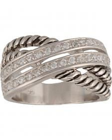 Montana Silversmiths Women's Double Band Wrap Ring