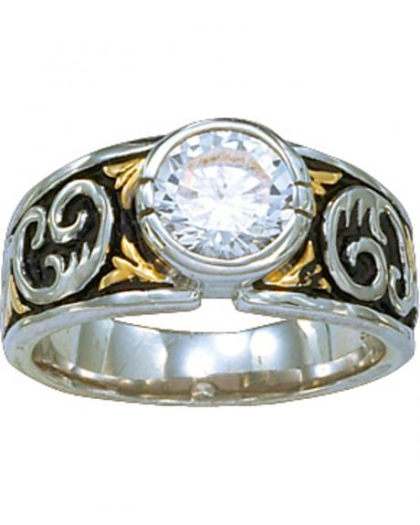 Montana Silversmiths Women's Crystal Shine Solitaire Ring