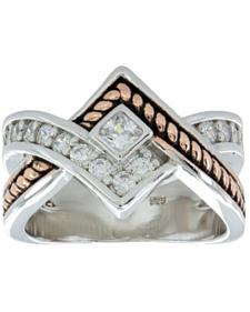 Montana Silversmiths Women's Clasped in Rope & Star Light Ring