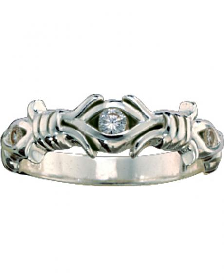 Montana Silversmiths Women's Barbed Wire Solitaire Ring